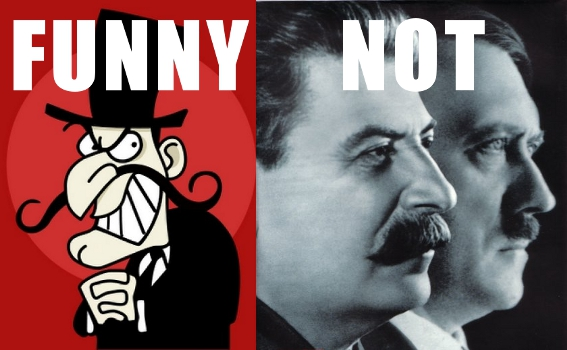 Snidely Whiplash vs. Stalin and Hitler