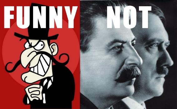 Snidely Whiplash vs. Stalin and Hitler